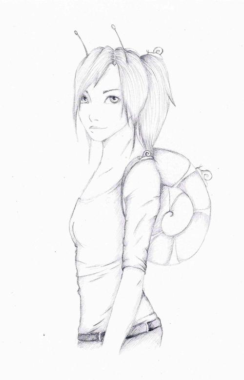kobieta ślimak